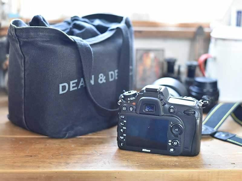 Dean&Delucaのトートバッグをカメラバッグに