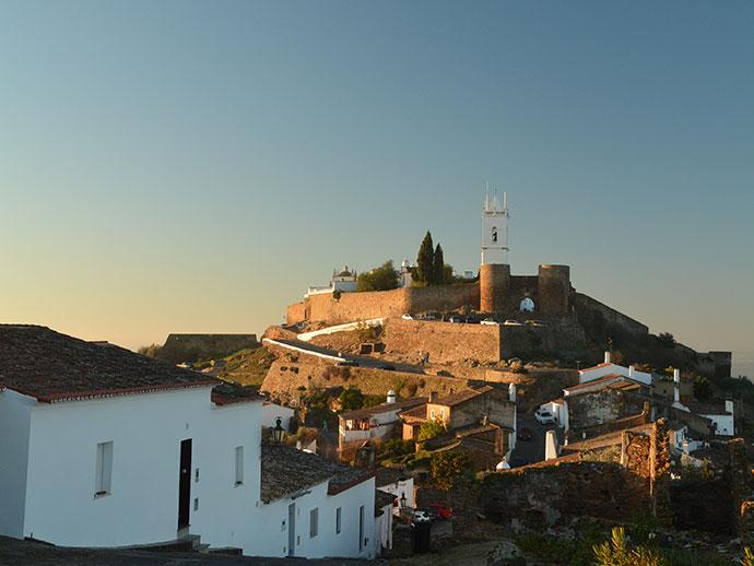 村から眺めたお城
