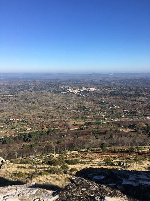 マルヴァオンの城跡からの眺め