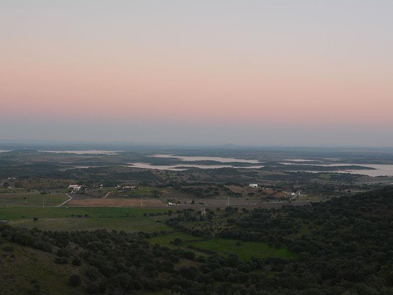 モンサラーシュの夕陽