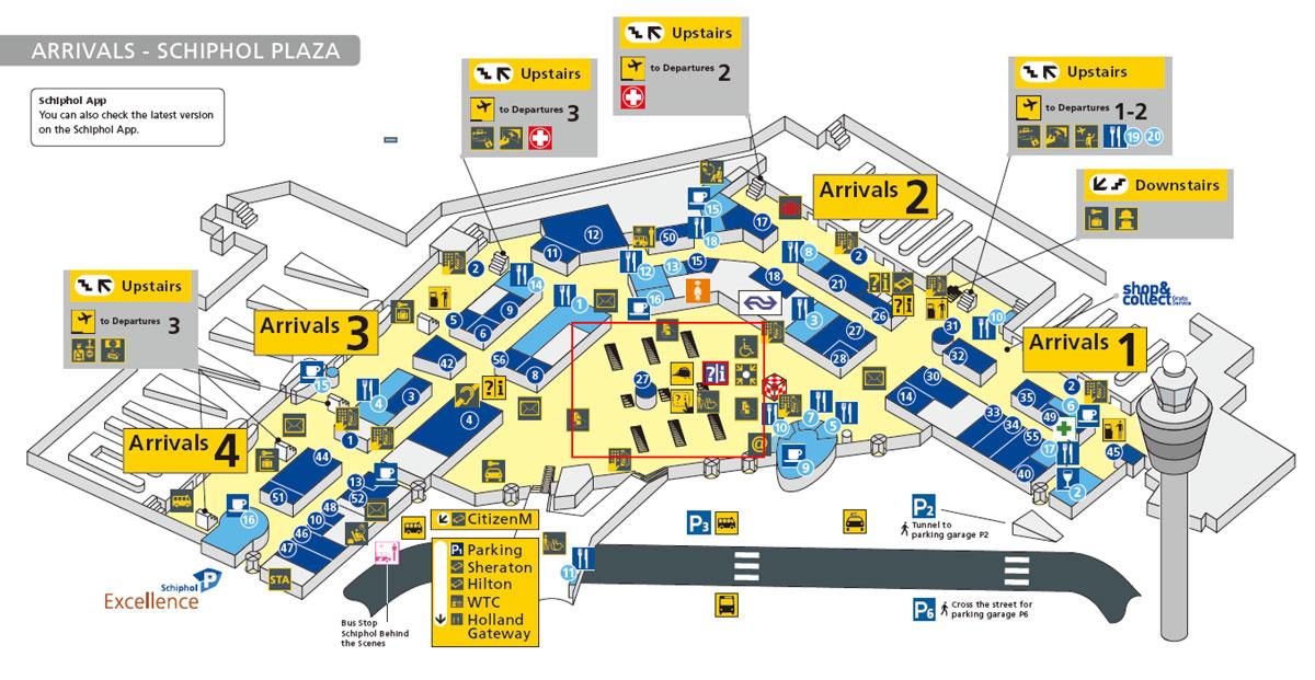 スキポール空港マップ