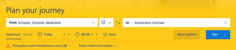 オランダ国鉄サイトから