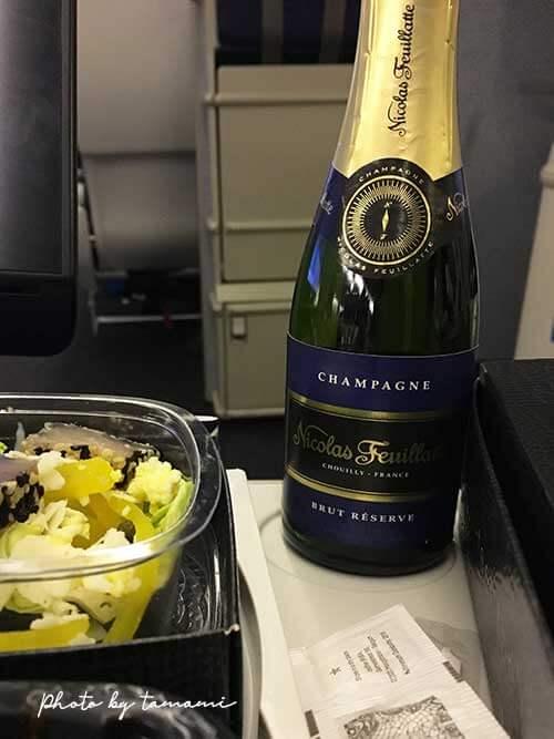 KLMオランダ航空機内食 シャンパン・デライト