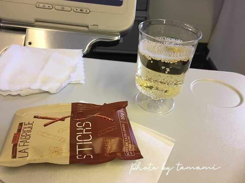 2018年エールフランス航空機内食