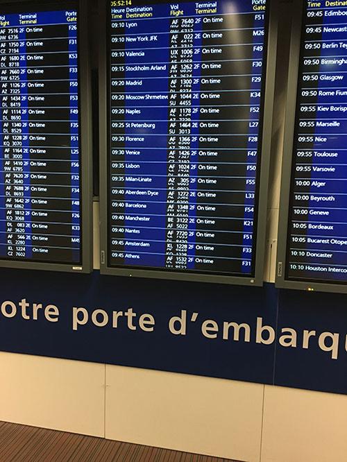 シャルル・ド・ゴール空港 乗り継ぎ