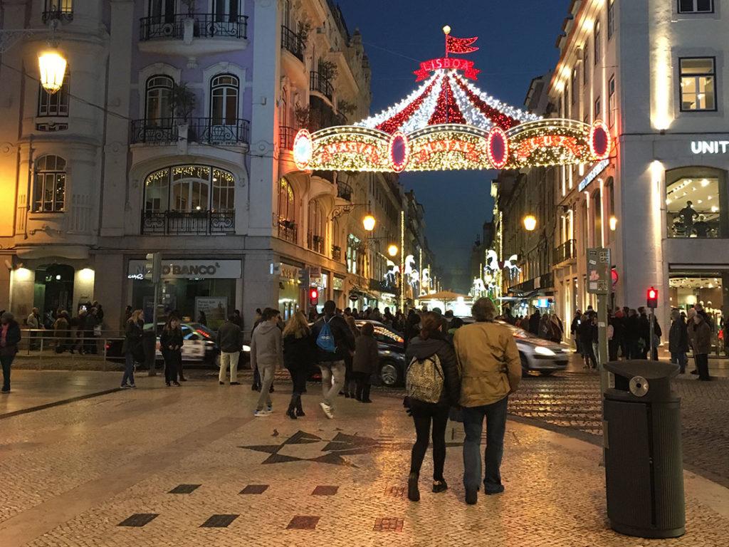 リスボンの大晦日の夜