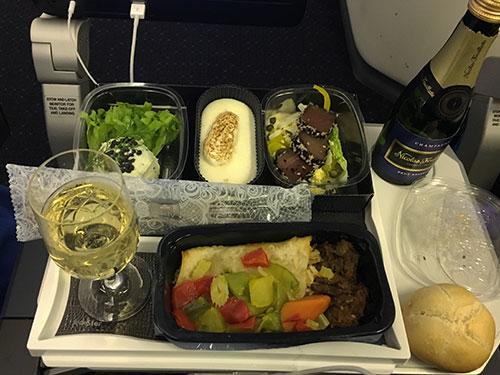 KLMオランダ航空アラカルトミール