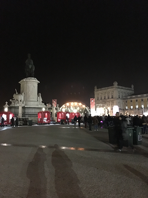 リスボン - 夜のコメルシオ広場
