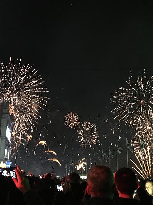 リスボンの大晦日の花火