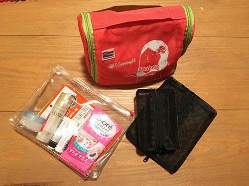 バスルームオーガナイザー、透明プラスチック袋、メッシュポーチ