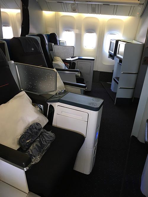 KLMオランダ航空ワールドビジネスクラス座席