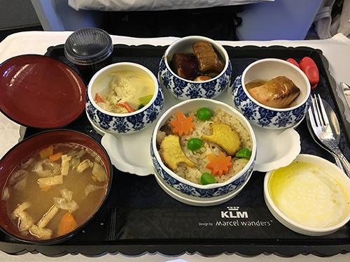 KLMオランダ航空ビジネスクラス機内食