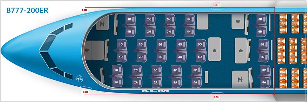 KLMオランダ航空B777-200ER