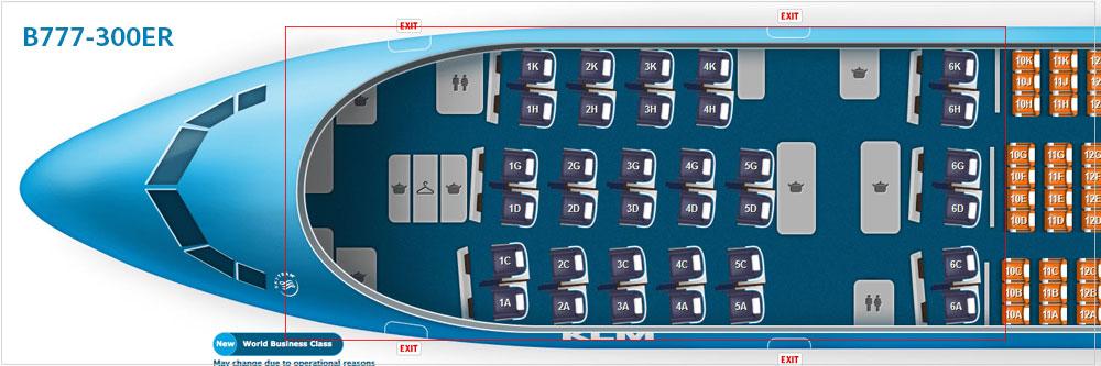 KLMオランダ航空B777-300ER