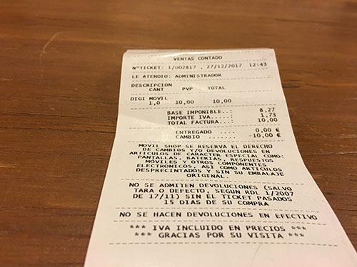 スペインでSIMカードを買う