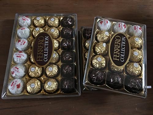スペイン土産にイタリアのチョコ