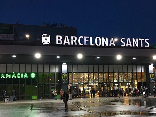 バルセロナサンツ駅周辺