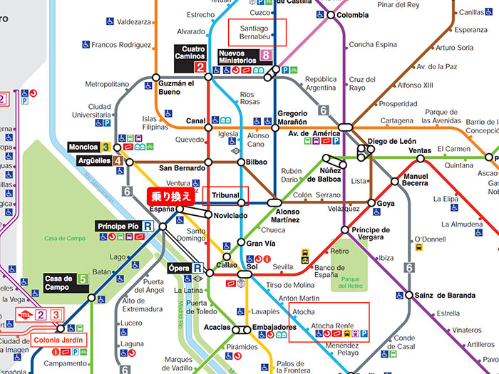 Madrid Metro MAP