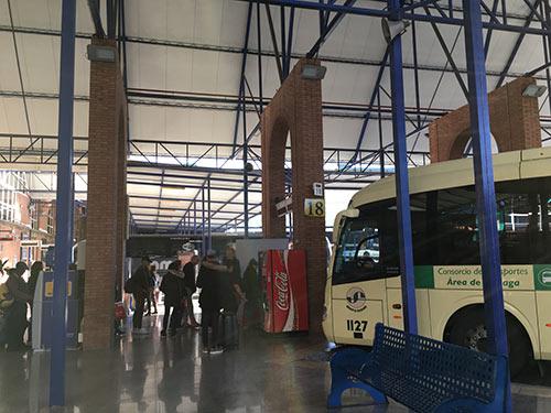 マラガのバスターミナル