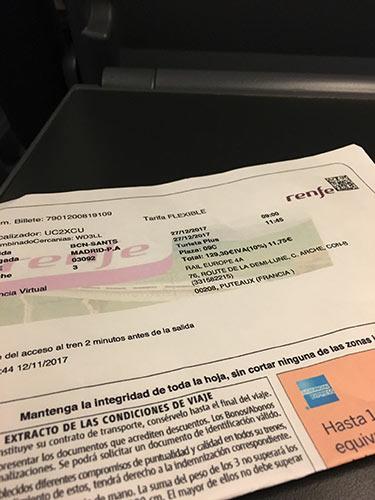 バルセロナサンツ駅からマドリードアトーチャ駅へ移動