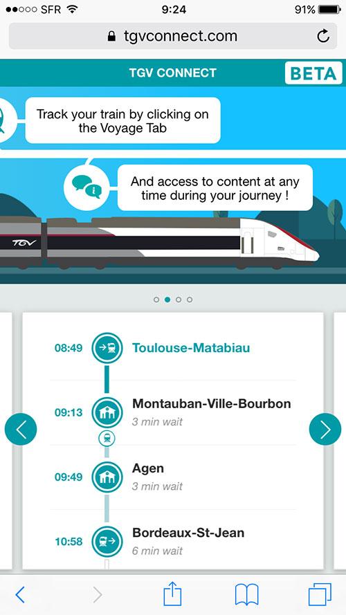 TGV内のwifi