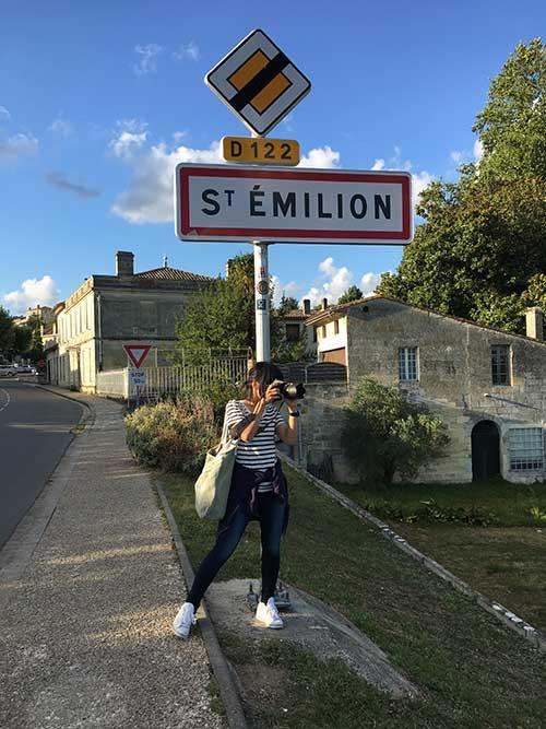 サンテミリオン駅から街へ