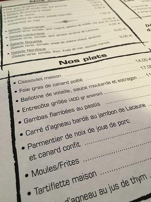 コルド・シュル・シエルのレストラン
