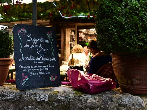 サン・シル・ラポピー村のレストラン