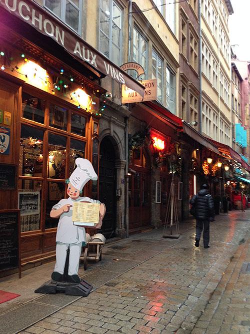 Lyonの旧市街にあるビストロ