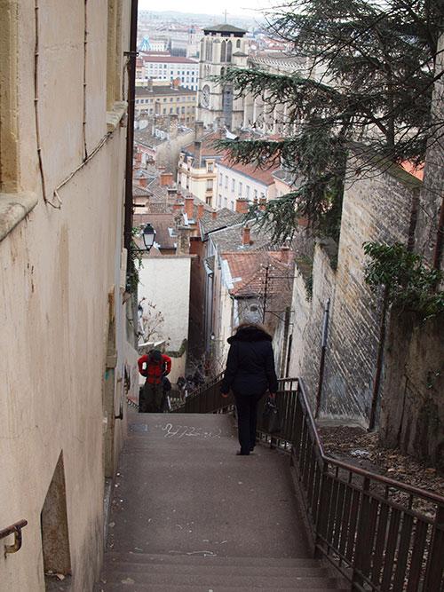 フルヴィエールの丘から旧市街へ