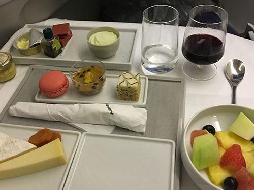 エールフランスビジネスクラス機内食