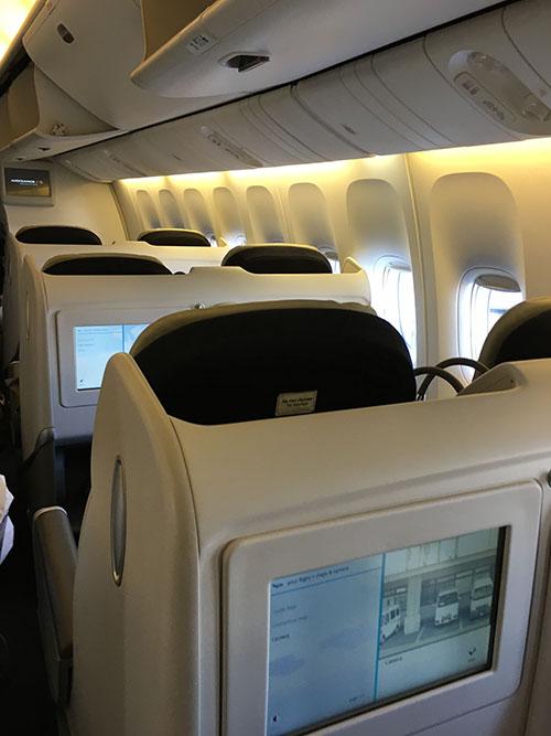エールフランス航空ビジネスクラス B777-300