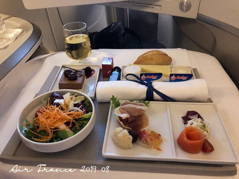 エールフランス航空ビジネスクラス機内食