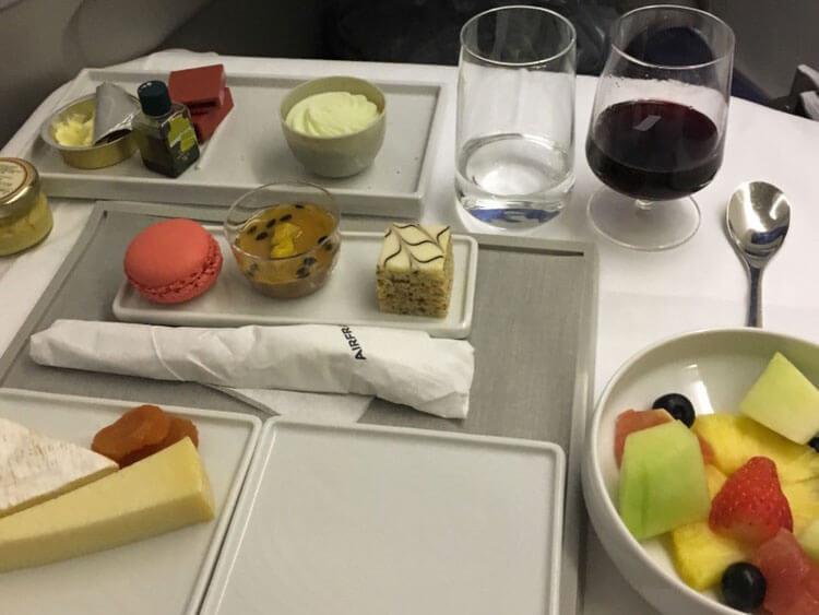 エールフランス航空ビジネスクラスメニュー2016年12月
