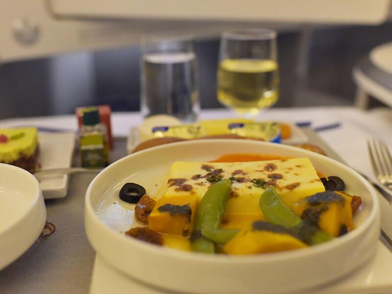 エールフランス航空ビジネスクラスメニュー2018年12月