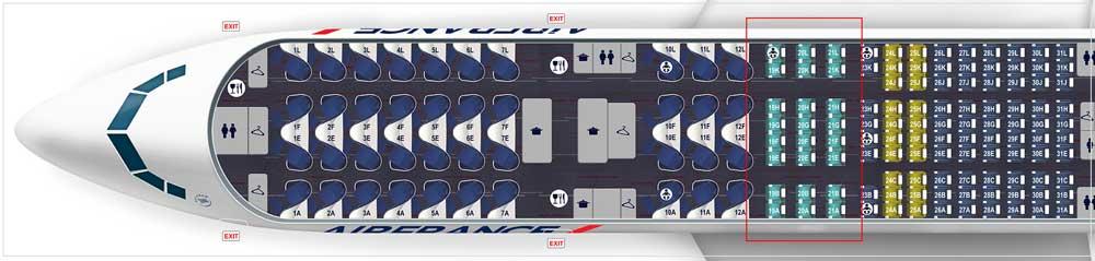 エールフランス航空機材 B777 200BEST-280