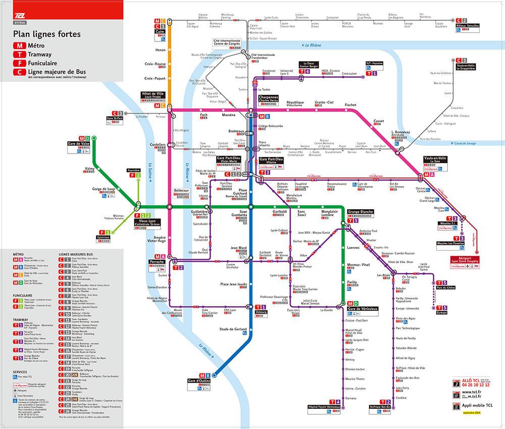 リヨン市内の交通網