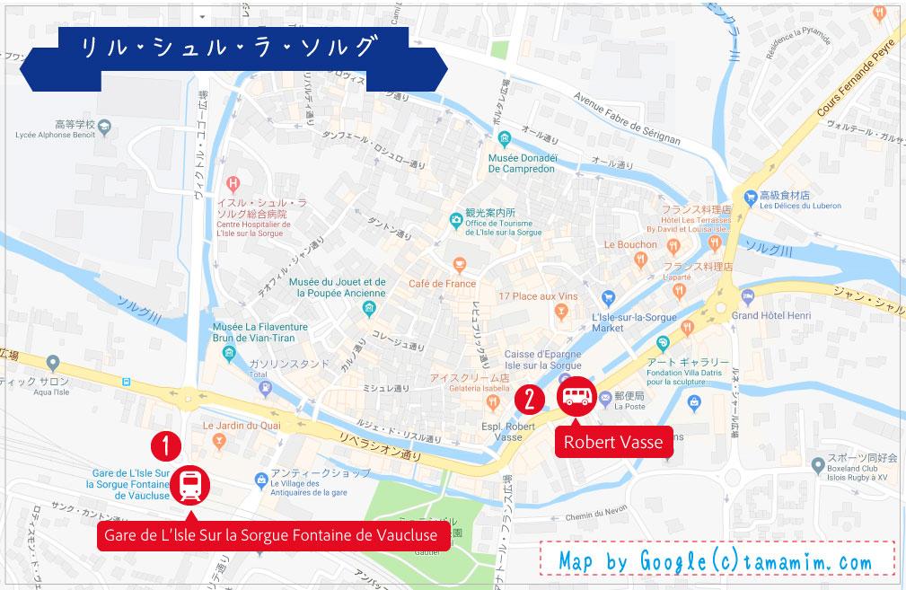 リル・シュル・ラ・ソルグ地図