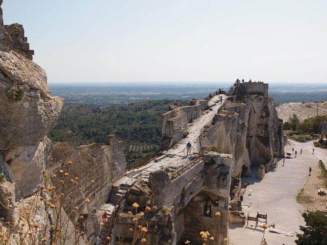 レ・ボー・ド・プロヴァンスの要塞からの眺め