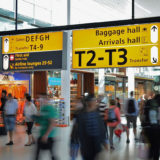 スキポール空港の荷物預け所
