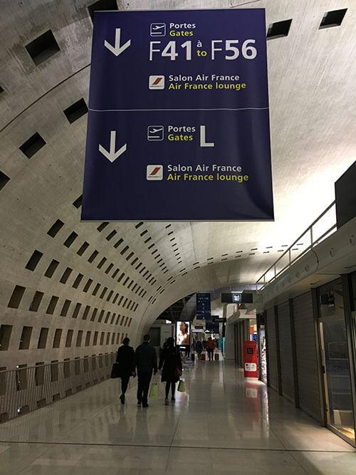 ターミナル2Fのエールフランスラウンジ
