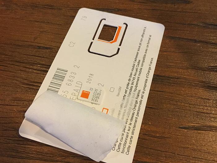 orangeでプリペイドSIMを購入