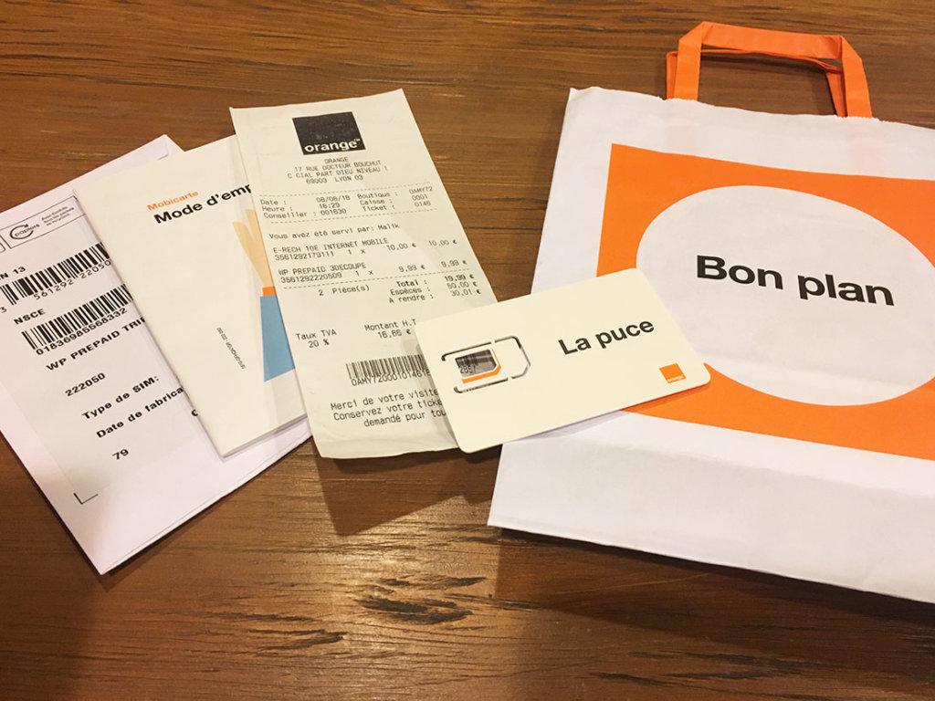 フランスでSIMカードを購入