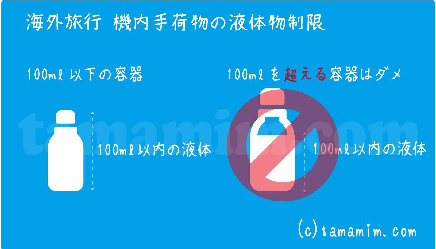 海外旅行機内持ち込み液体物の制限