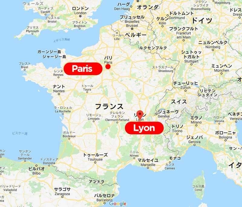 フランス南東部に位置するリヨン