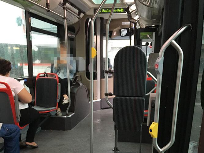 リヨン市内のバス