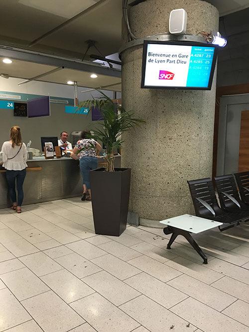 リヨン パール・デュー駅のSNCF通常窓口