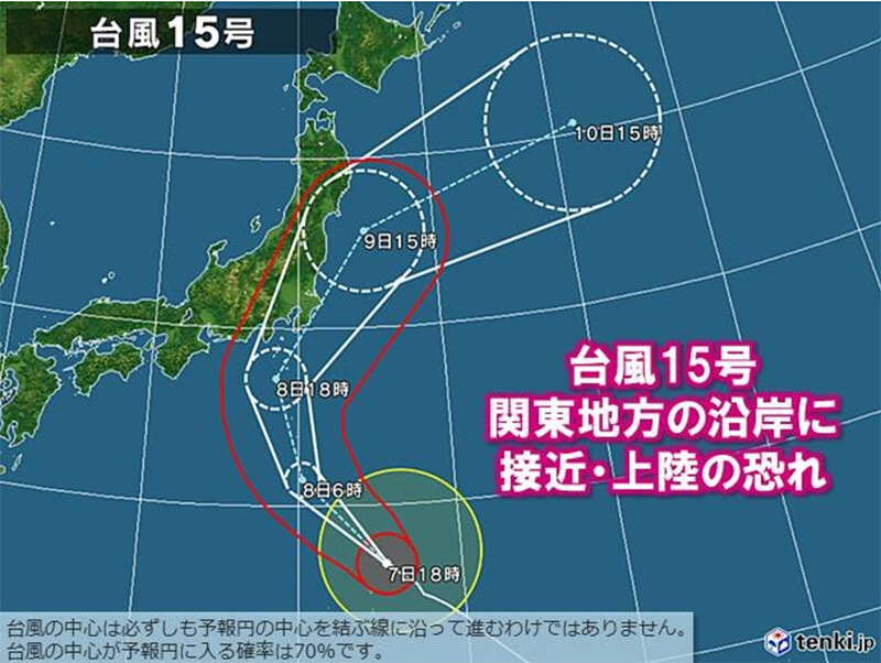 2019年9月台風15号