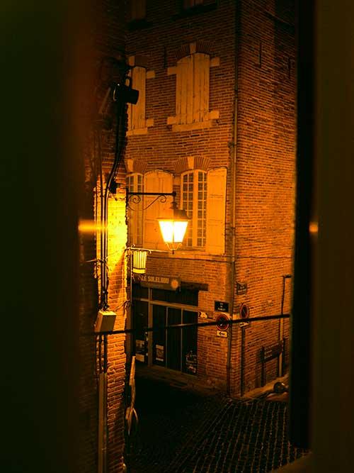 Logis Hotel Saint Clair窓からの風景