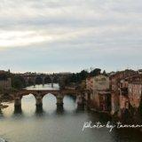 タルン川に架かる橋の眺め(アルビ)
